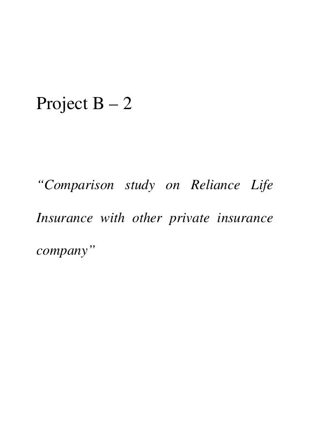 a project on customer satisfaction for reliance life insurance View anant shinde's profile on reliance life insurance the objective of my project is to study the customer satisfaction of birla sun life insurance.