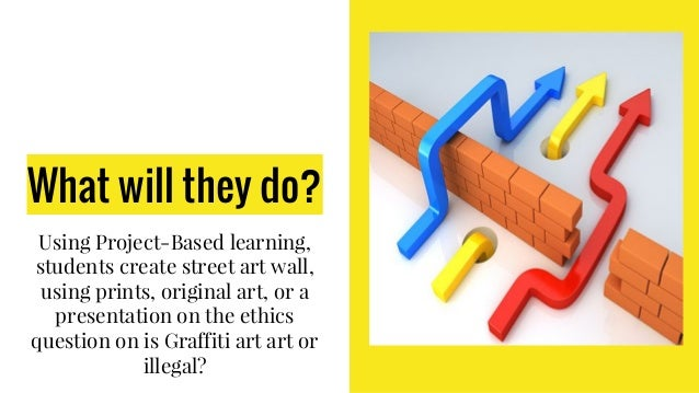 What will they do? Using Project-Based learning, students create street art wall, using prints, original art, or a present...