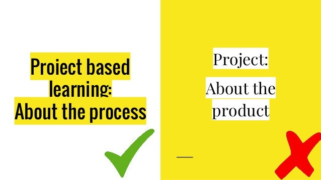 Project based learning: About the process Project: About the product
