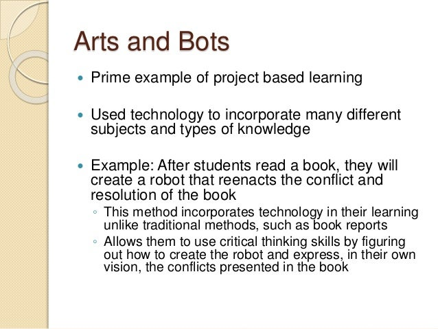 project based learning examples pdf