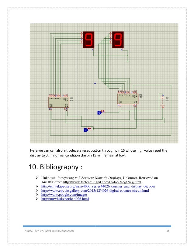 a simple bcd counter project Up Counter Circuit 13 digital bcd counter implementation