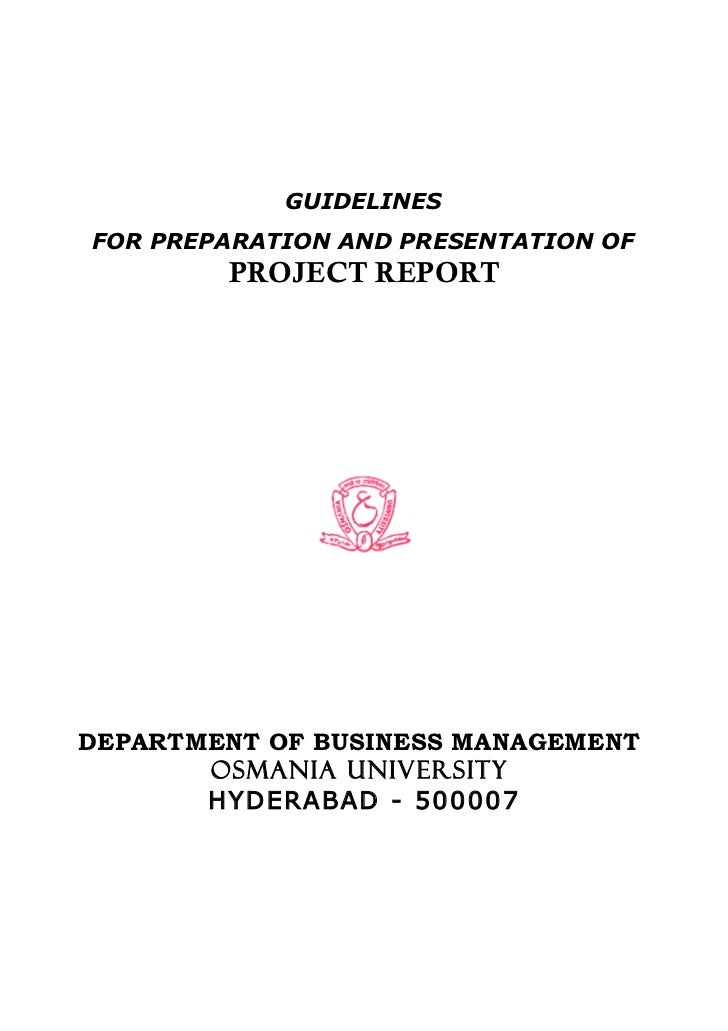 Mba project report as per osmania university for Covering letter for project report