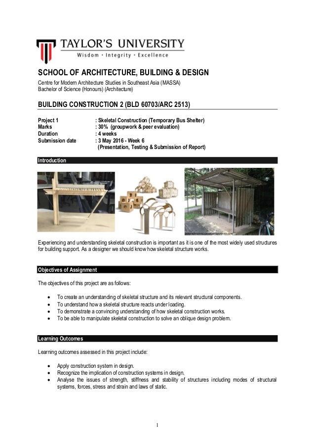 Semester 3 project 1 brief building construction 1 school of architecture building design centre for modern architecture studies in southeast asia altavistaventures Choice Image