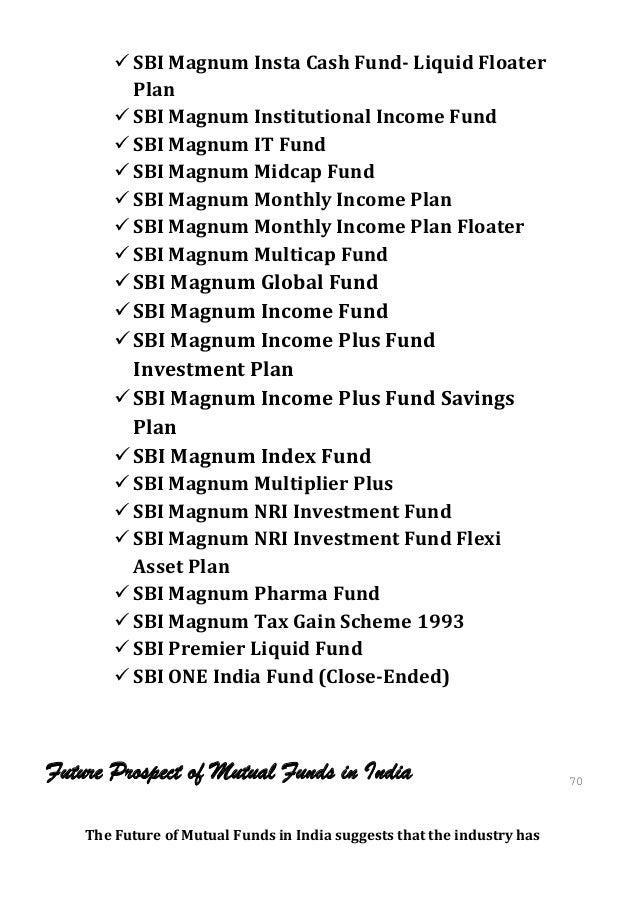  SBI Magnum Insta Cash Fund- Liquid Floater          Plan         SBI Magnum Institutional Income Fund         SBI Magn...