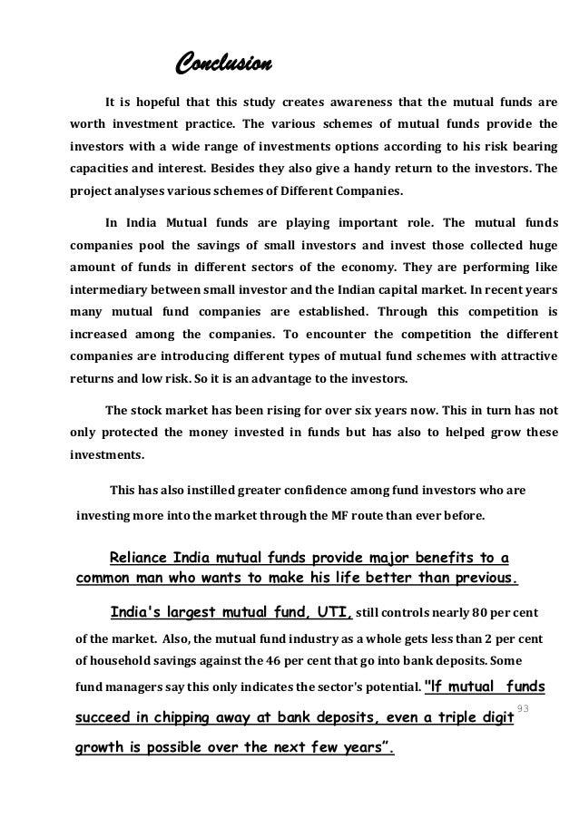 Study on Mutual Fund