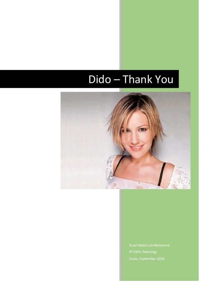 dido thank you (acoustic) lyrics