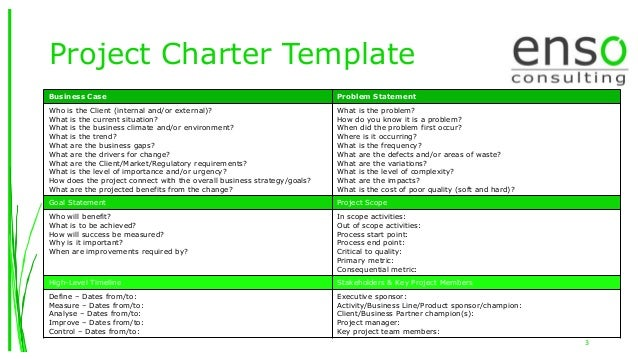 Charter Template. project charter template free printable project ...