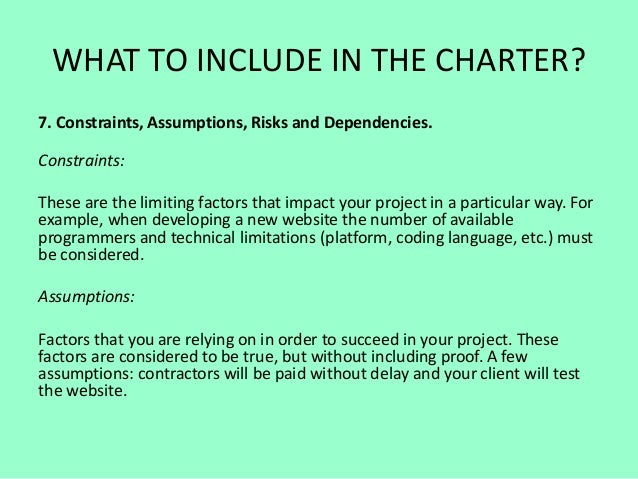 Project Charter Guide