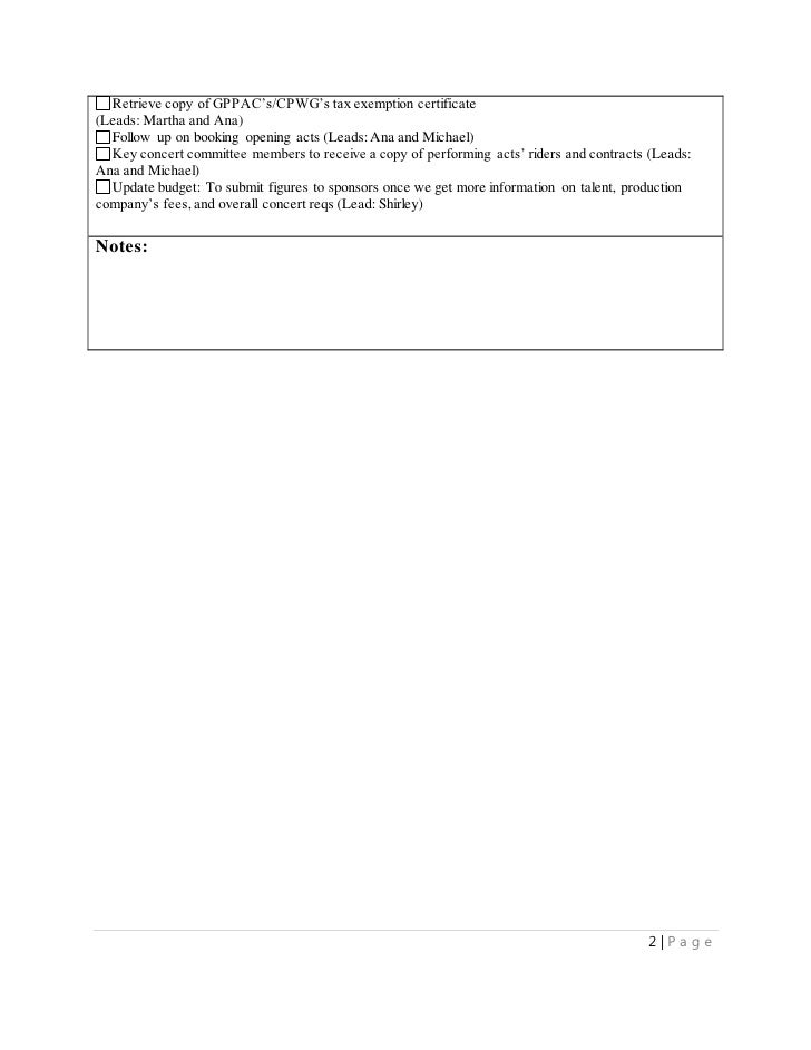MS Word Writing Sample: Project Management Checklist for