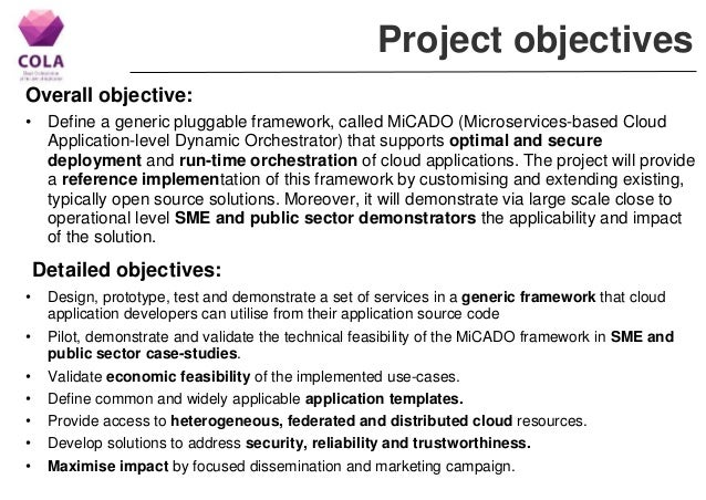 Project COLA - Cloud Orchestration at the Level of Application -  Introduction and Project Overview Slide 2