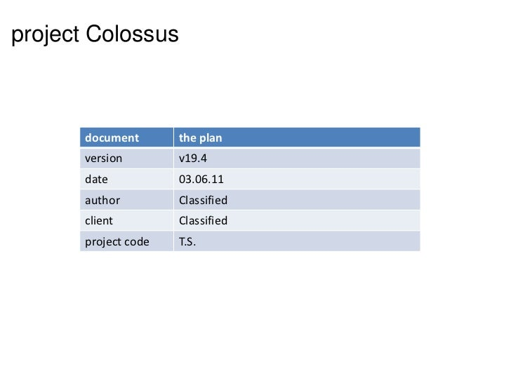 project Colossus<br />