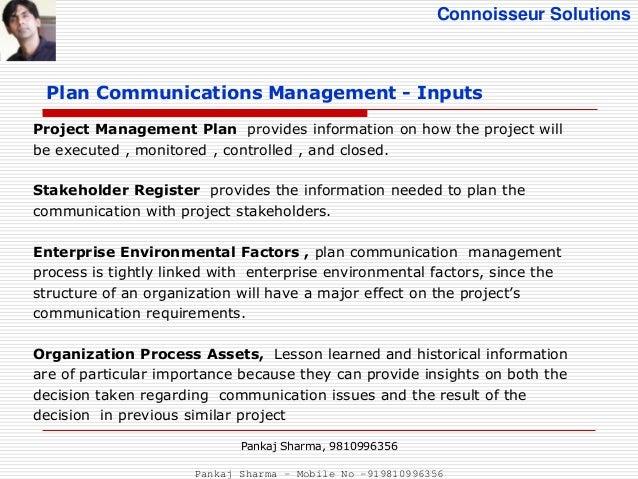 14 Connoisseur Solutions Plan Communications