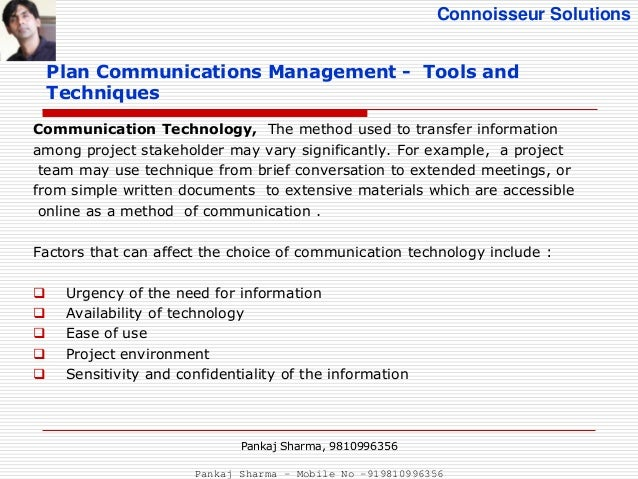 management communications with technology tools