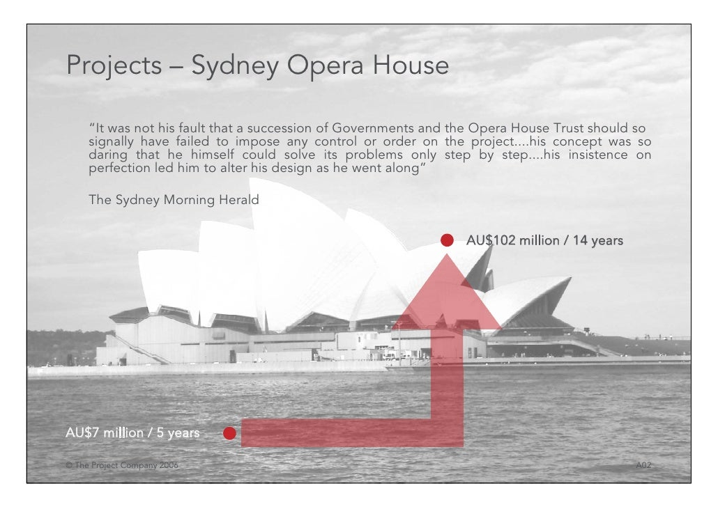 Sydney opera house project manager