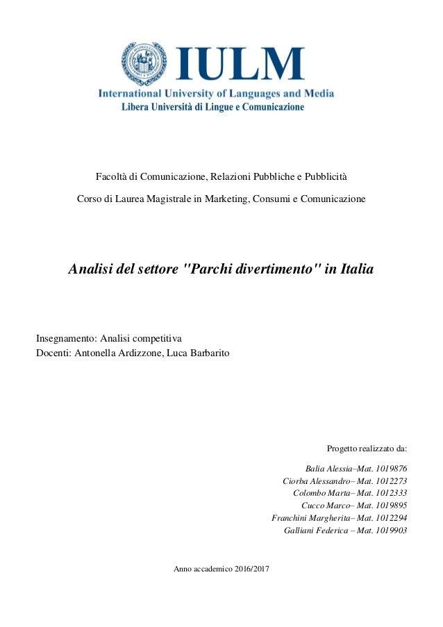 62a9e4dfca Facoltà di Comunicazione, Relazioni Pubbliche e Pubblicità Corso di Laurea  Magistrale in Marketing, ...