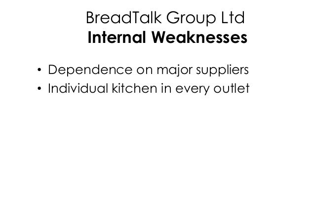 breadtalk anaysis Pestel analysis is an important tool to help breadtalk ltd to assist monitor and detect all weak signals to recognize the fractures to shape the environment or discontinuities political /legal factors.
