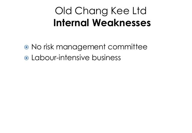 company analysis of old chang kee The company will consider the entire above scenarios and had planned to take old chang kee aboard through acquisitions, direct investment, joint venture and franchises net proceeds of $500,000 have been set aside for the plan.