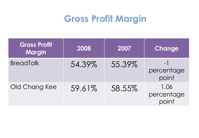 Company analysis of old chang kee