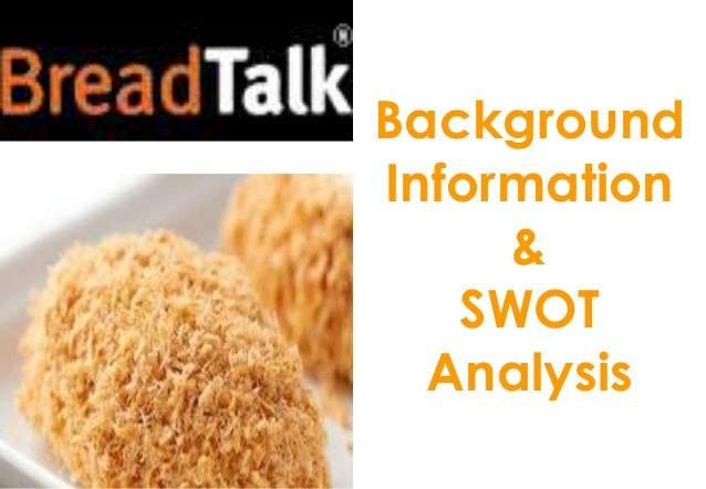 introduction breadtalk View essay - breadtalk from computers 121 at nirmala institute of education introduction breadtalk is a singapore based bakery and was founded by george quek and katherine lee in 2000.