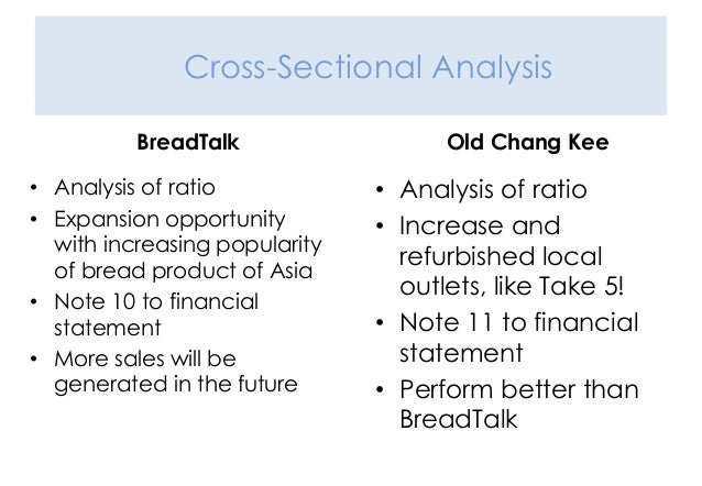 cross sectional ratio analysis