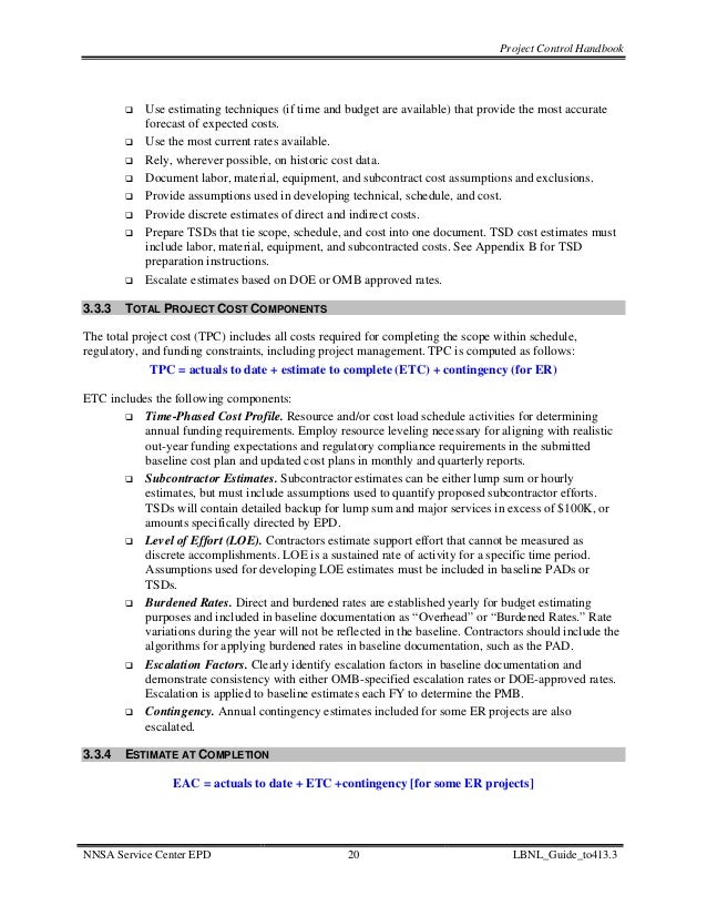 nasa parametric cost estimating handbook