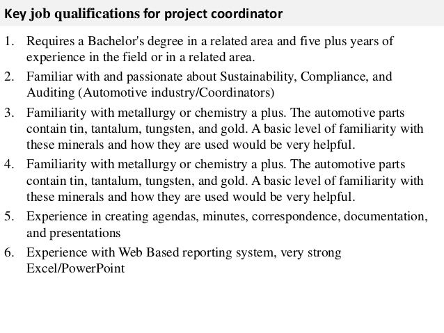 Project coordinator job description – Coordinator Job Description