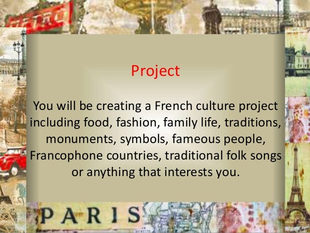 Final Copy French Culture Project And Copyright Use