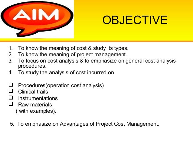 Cost Analysis Of Project