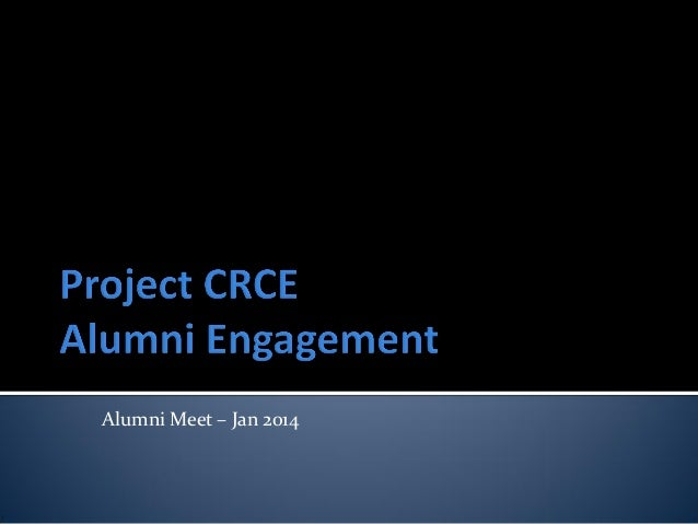 Alumni Meet – Jan 2014