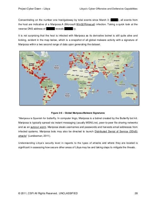 Project Cyber Dawn: Libya