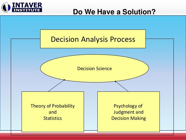 USES OF CONTRIBUTION ANALYSIS IN DECISION MAKING PROCESSES