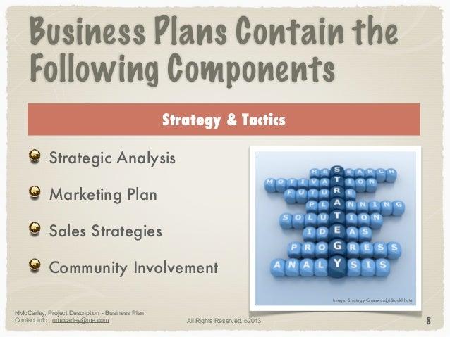 Project description business plan