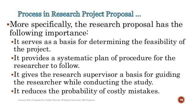 Project Design And Research Methods In Gis