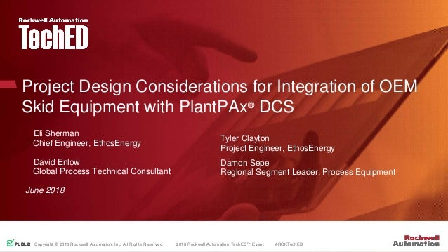 Project design considerations for integration of oem skid