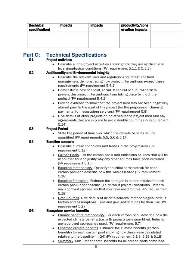 Project Design Document Template For Plan Vivo Projects - Project documentation template