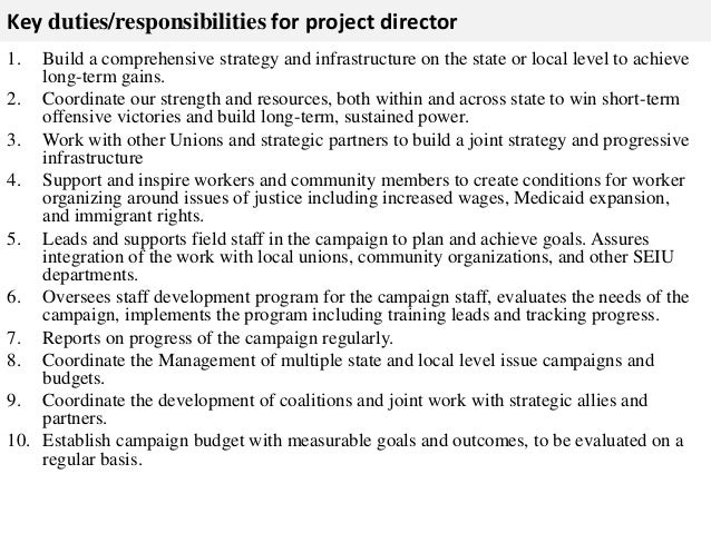project managers job description