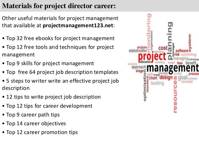 Project Director Job Description