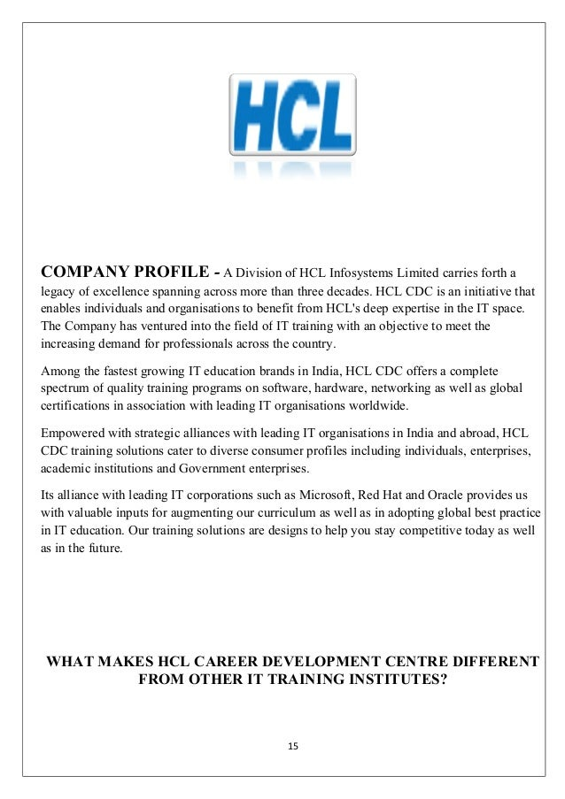 hcl marketing stratergies Marketing strategy is making sure your message addresses your consumer's needs consumers do not buy what you sell they buy what has value to them.