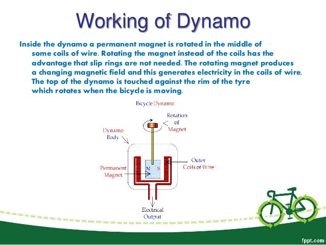 Renewable Sources of Energy- Dynamo in Bicycle