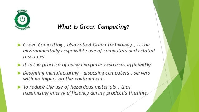 e waste and green computing pdf