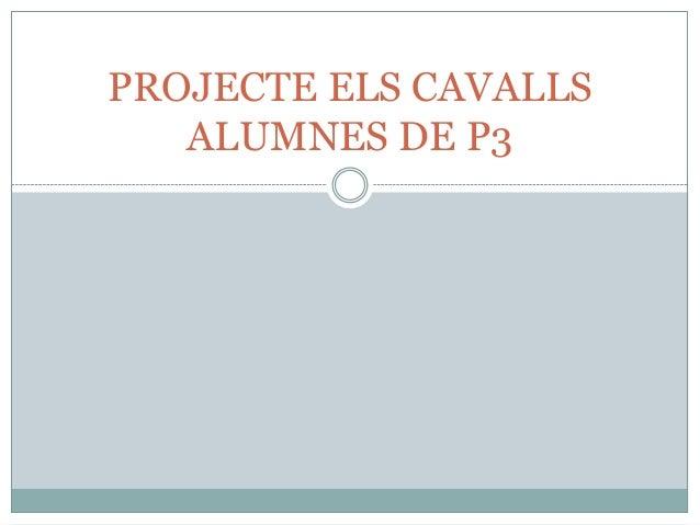 PROJECTE ELS CAVALLSALUMNES DE P3
