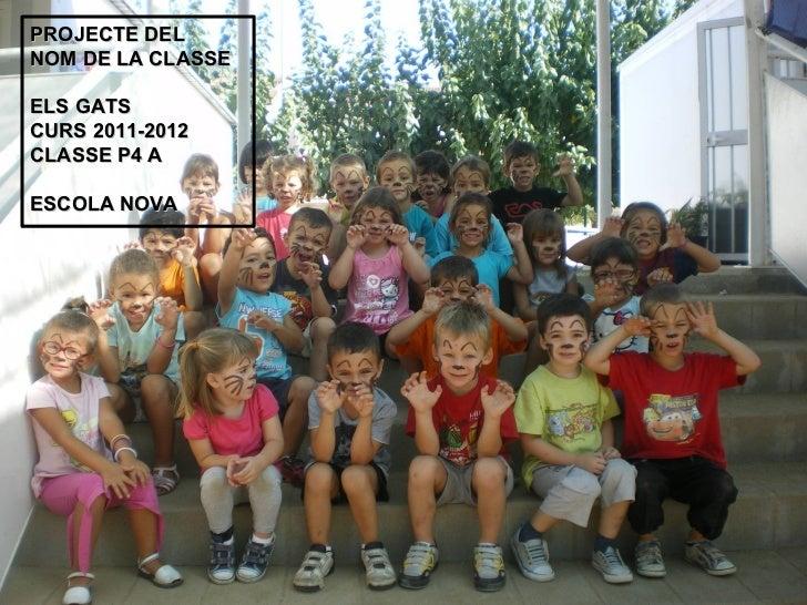 PROJECTE DELNOM DE LA CLASSEELS GATSCURS 2011-2012CLASSE P4 AESCOLA NOVA