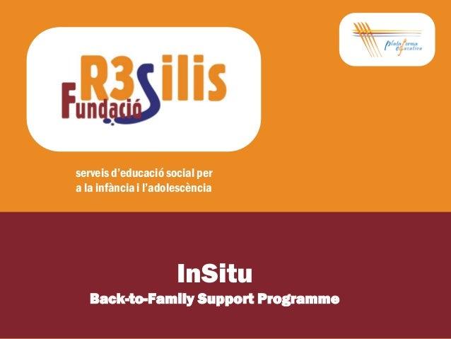 serveis d'educació social pera la infància i l'adolescència                      InSitu   Back-to-Family Support Programme
