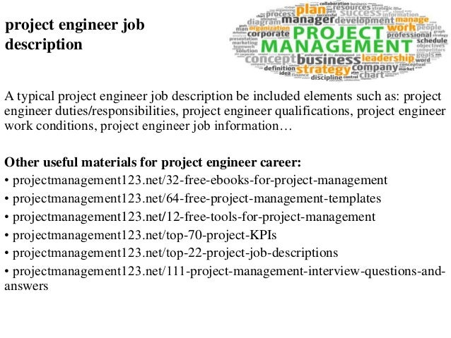 Lovely Project Engineer Job Description A Typical Project Engineer Job Description  Be Included Elements Such As: ...
