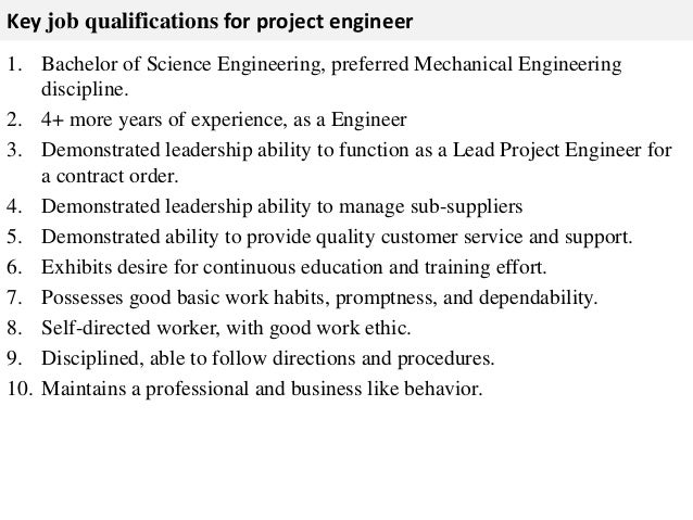 3. Key Job Qualifications ...  Good Job Qualifications