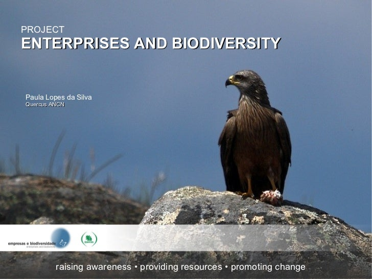 PROJECTENTERPRISES AND BIODIVERSITYPaula Lopes da SilvaQuercus ANCN         raising awareness • providing resources • prom...