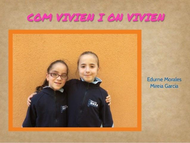 COM VIVIEN A L'EDAT DELS METALLS
