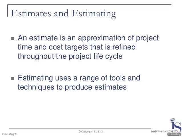 Project estimating estimates solutioingenieria Gallery