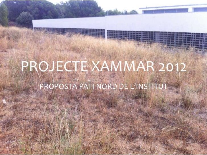 PROJECTE XAMMAR 2012  PROPOSTA PATI NORD DE L'INSTITUT