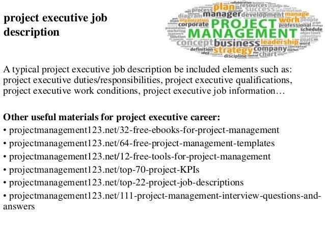 91c316b88c4fc Project executive job description
